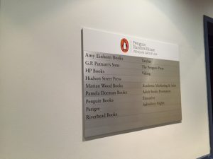 At the Penguin offices