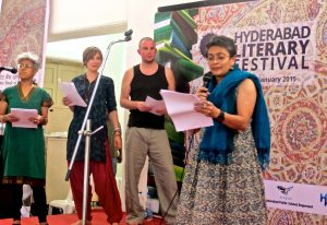 Poetry Connections India performance at Hyderabad Literary Festival