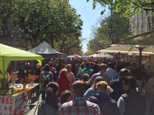 The Ramblas de Catalunya at Sant Jordi