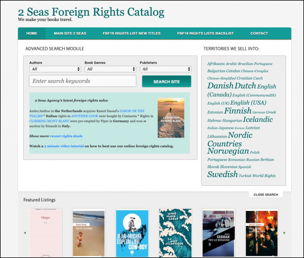 rights catalog